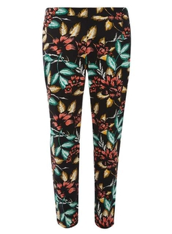 Dorothy Perkins - Floral Cotton Sateen Cropped Trousers
