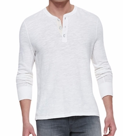 Rag & Bone - Slub-Knit Basic Henley Shirt