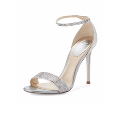 Rene Caovilla  - Crystal Ankle-Wrap Sandals