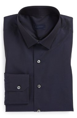 Lanvin  - Fitted Navy Dress Shirt