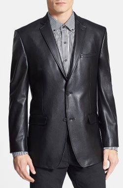 Marc New York by Andrew Marc - Classic Fit Faux Leather Blazer