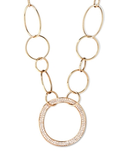 Ippolita	 - Stardust Diamond Hollow-Pendant Chain Necklace