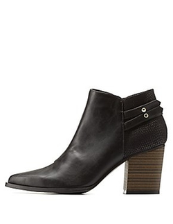 Charlotte Russe - Block Pointed Toe Booties