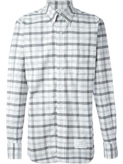 Thom Browne  - Checked Oxford Shirt