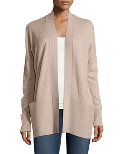 Vince - Ribbed-Trim Cardigan