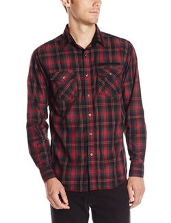 Modern Culture - Reed Textured Plaid Shirt