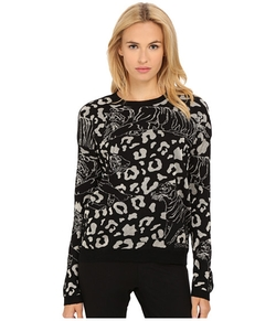 Versace Jeans  - Long Sleeve Animal Print Sweater