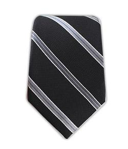 TheTieBar - Woven Silk Vocal Stripe Black Skinny Tie