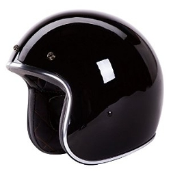 Iv2 - Open Face Solid Black Helmet