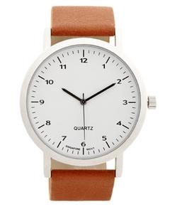 Aeropostale - Minimalist Analog Faux Leather Watch
