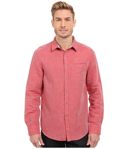 Kenneth Cole  - Long Sleeve Button Down Linen Slub Shirt