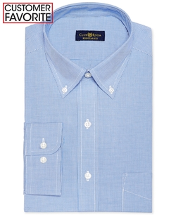 Club Room -  French Blue Microcheck Dress Shirt