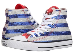 Converse  - All Star Sequin Flag Hi Sneakers