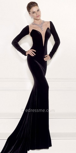 Tarik Ediz - Blair Illusion Necklace Evening Dress