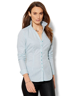 7th Avenue Design Studio - Shimmer Stripe Madison Shirt