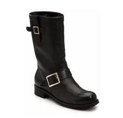 Jimmy Choo - Leather & Rabbit Fur Mid-Calf Boots
