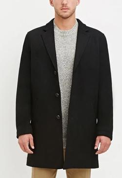 Forever 21 - Wool-Blend Overcoat