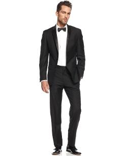 DKNY - Extra-Slim-Fit Black Tuxedo