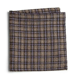 Saks Fifth Avenue Collection  - Plaid Print Pocket Square