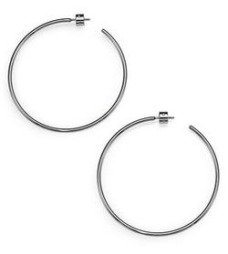 Michael Kors - Brilliance Statement Silvertone Hoop Earrings