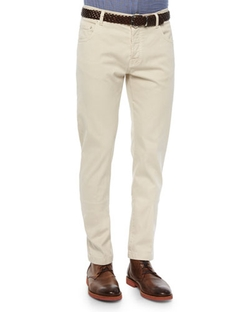 Kiton - Twill Five-Pocket Pants