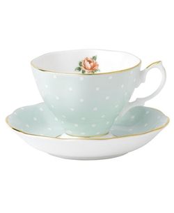 Royal Albert  - Old Country Roses Polka Rose Cup and Saucer