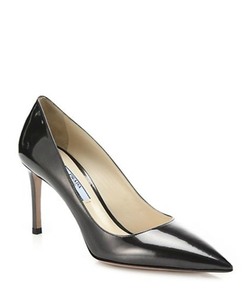 Prada  - Patent Saffiano Leather Pumps