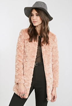 Forever21 - Textured Faux Fur Coat