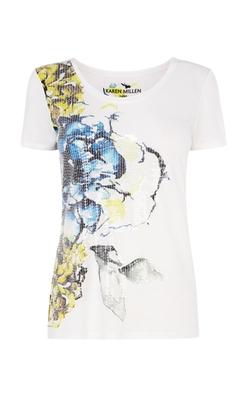 Karen Millen - Floral Print T-Shirt