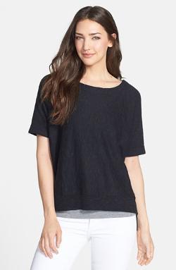 Eileen Fisher   - Organic Linen & Cotton Scoop Neck Top