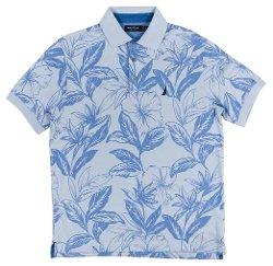 Nautica - Leaf Print Short-Sleeves Polo Shirt