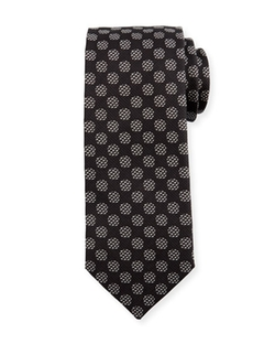 Tom Ford  - Large Geo Dot Printed Silk Tie