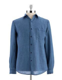 Black Brown 1826 - Linen Button-Down Shirt