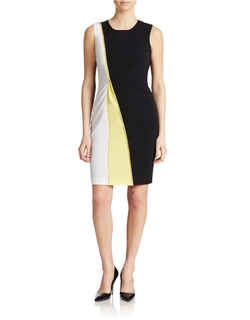Calvin Klein - Colorblocked Zip Sheath Dress