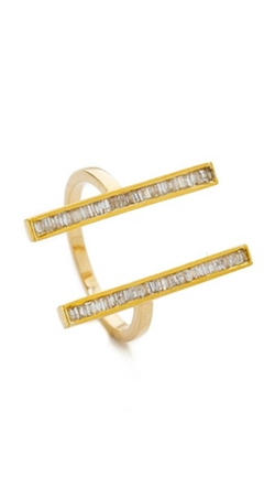 Maiyet - Double Baguette Open Ring