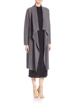 Eileen Fisher  - Wool Open-Front Long Cardigan