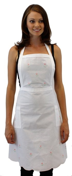 Greatlookz - Lovely Rosebud Cotton Bib Apron