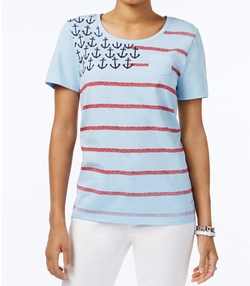 Tommy Hilfiger  - Anchor-Print Flag Graphic T-Shirt