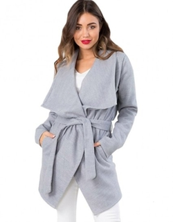 Yiyou - Belted Trench Wrap Coat