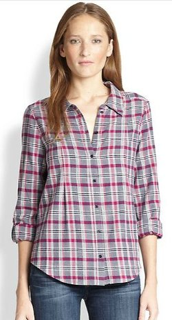 Joie Michaela  - Plaid Cotton Flannel Shirt