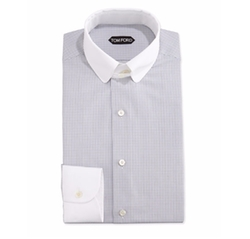 Tom Ford - Tailored Fit Graph-Check Dress Shirt