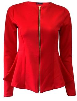 Crazy Girls - Peplum Style Zip Blazer