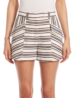 A.L.C.  - Hamilton Striped Shorts