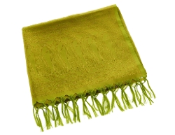 Shal India - Green Yellow Silk Scarf