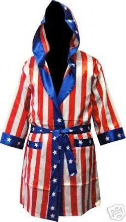 Rocky - Rocky Balboa Apollo Movie Boxing American Flag Robe