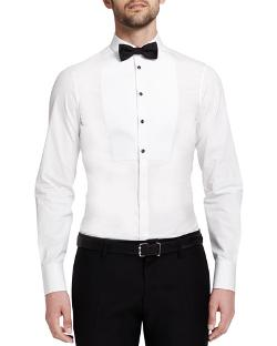 Dsquared2  - Dean Poplin Tuxedo Shirt