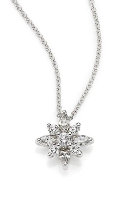 Kwiat  - Diamond & Platinum Star Pendant Necklace