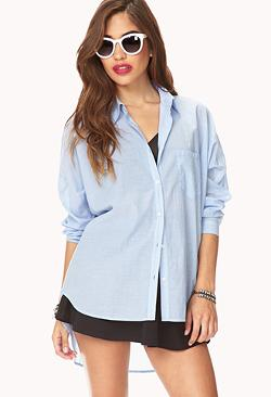 Forever 21 - Boyfriend Pinstriped Dress Shirt