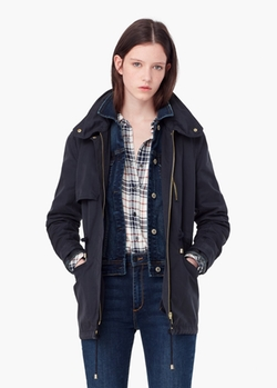 Mango - Adjustable Waist Parka Coat