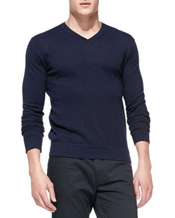 Theory - Leiman V-Neck Cashcotton Sweater